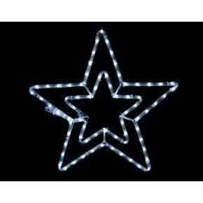 ACA Led Φωτοσωλήνας Αστέρι Διπλό 60 Steady LEDs 3mm 46cm IP44