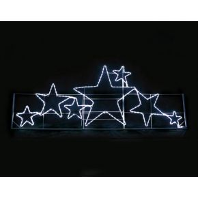 ACA LED Φωτοσωλήνας Αστέρια 264 Steady LEDs 3mm 237x87cm IP44