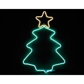 ACA LED Φωτοσωλήνας Νέον Christmas Tree 200 Steady LEDs 2835 38.5x54cm IP44