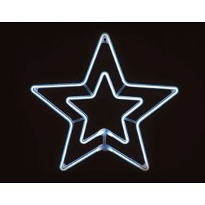 ACA LED Φωτοσωλήνας Νέον Διπλό Αστέρι 300 Steady LEDs 2835 55x55cm IP44