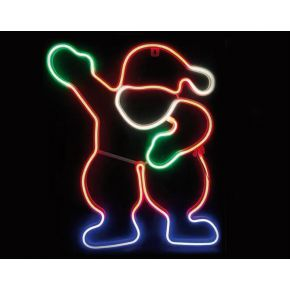 ACA LED Φωτοσωλήνας Νέον Santa 300 Steady LEDs 2835 Multicolor 39x54cm IP44