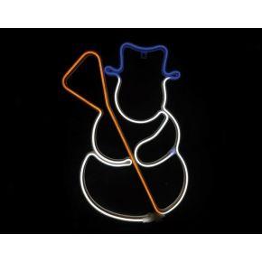 ACA LED Φωτοσωλήνας Neon Χιονάνθρωπος 300 Steady LEDs 2835 Multicolor 37x53cm IP44