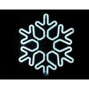 ACA LED Φωτοσωλήνας Νέον Χιονονιφάδα 300 Steady LEDs 2835 40x40cm IP44