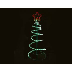 ACA LED Φωτοσωλήνας Spiral Tree 120 Steady LEDs 3mm 40x40x90cm IP44 με Βάση