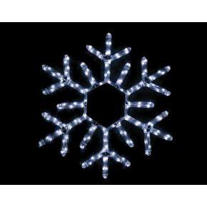 ACA LED Φωτοσωλήνας Χιονονιφάδα 144 Flash LEDs 3mm 56cm IP44