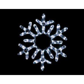ACA LED Φωτοσωλήνας Χιονονιφάδα 96 Steady LEDs 3mm 38cm IP44