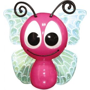 ACA LED Λαμπάκι Νυκτός Πεταλούδα Με Αισθητήρα Μέρα-Νύχτας 1W RGB 230V Ροζ