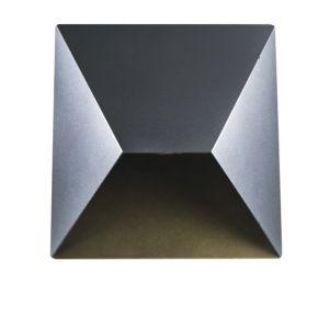 ACA LED Μεταλλική Απλίκα Τοίχου Estella 7W IP54 Σκούρο Γκρι