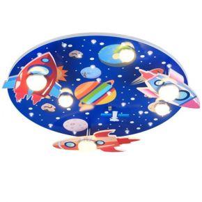 ACA Παιδικό Φωτιστικό Οροφής LED 18W MDF Διάστημα NASA