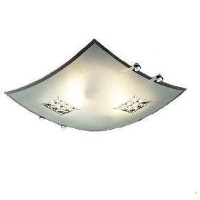 ACA Πλαφονιέρα Τετράγωνη Κρύσταλλος Φ30 2xE27 Agis