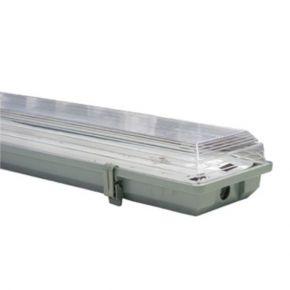 ACA Σκαφάκι για 2x150cm Λάμπες LED T8 G13 Γκρι IP65