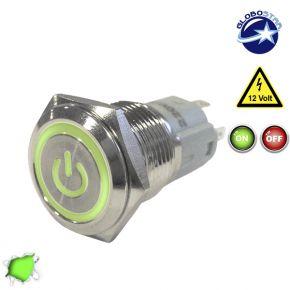 Διακοπτάκι LED ON/OFF 12 Volt DC Πράσινο