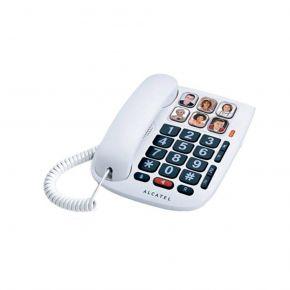Alcatel Ενσύρματο Τηλέφωνο Με 6 Μεγάλα Πλήκτρα Άμεσης Κλήσης Λευκό TMAX10