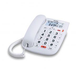 Alcatel Ενσύρματο Τηλέφωνο με Αναγνώριση Κλήσης και Μεγάλα Πλήκτρα Λευκό TMAX20