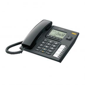 Alcatel Ενσύρματο Τηλέφωνο με Αναγνώριση Κλήσης Μαύρο T76