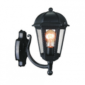 Alfa LED Απλίκα Άνω Τοίχου Φανάρι 60W E27 IP44 Κέρκυρα