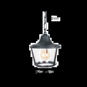 Alfa LED Κρεμαστό Φανάρι 60W E27 IP44 Σαντορίνη
