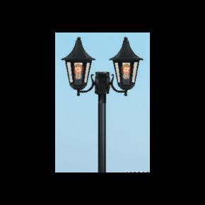 Alfa LED Κολώνα 60W με Σωλήνα Αλουμινίου Φ60 Δίφωτη IP44 Ρόδος Plus