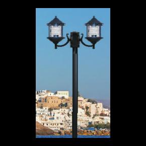 Alfa LED Κολώνα Σωλήνας Αλουμινίου 60W E27 IP44 Νάξος Δίφωτο