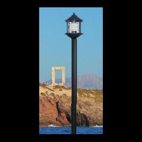Alfa LED Κολώνα Σωλήνας Αλουμινίου 60W E27 IP44 Νάξος Μονόφωτο Plus