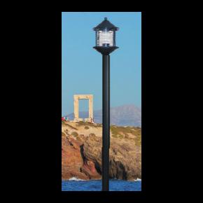 Alfa LED Κολώνα Σωλήνας Αλουμινίου 60W E27 IP44 Νάξος Μονόφωτο