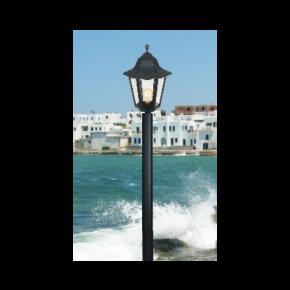 Alfa LED Κολώνα Σωλήνας Αλουμινίου 60W E27 IP44 Πάρος Μονόφωτο Plus