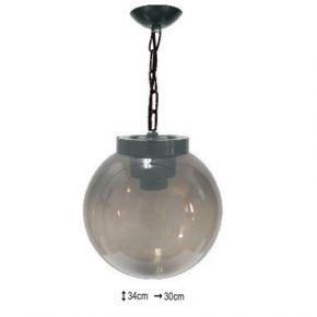 Alfa LED Κρεμαστό Φωτιστικό με Μπάλα Ø30 Φιμέ 40W E27 IP44 Κρόνος