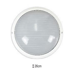 Alfa LED Πλαφονιέρα Μεγάλη με Γυαλί Οβάλ 60W E27 IP44