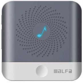 Alfa Ασύρματο Κουδούνι Ρεύματος Λευκό-Γκρι 200m Εμβέλεια