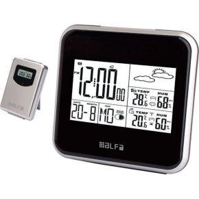 Alfa Μετεωρολογικός Σταθμός Επιτραπέζιος Με Ρολόι Μέτρηση Εξωτερικής Θερμοκρασίας