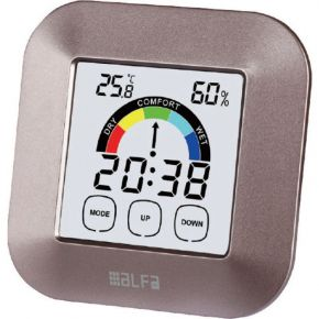 Alfa Μετεωρολογικός Σταθμός Επιτραπέζιος Με Ρολόι Touch Screen Silver