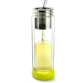 Asobu Παγούρι Τσαγιού Twin Lid 400ml Lime - Plum
