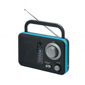 Audioline Φορητό Ραδιόφωνο Μπαταρίας και Ρεύματος Μαύρο με Μπλε TR-412