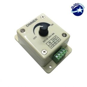 Εξωτερικό Dimmer Knob 12-24 Volt 8 Ampere
