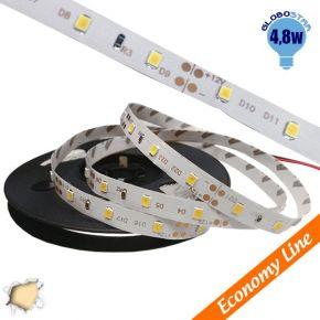 Eco Ταινία LED 4.8 Watt 12 Volt Θερμό Λευκό IP20