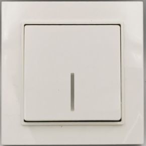 BAS Διακόπτης Απλός Με LED NEFELI Λευκός