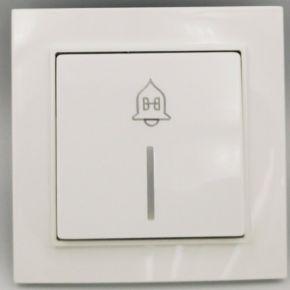 BAS Μπουτόν Κουδουνιού Με LED 220V NEFELI Λευκό