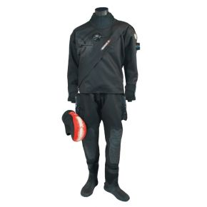 Beuchat Dry Suit ABYSS DRY Μαύρη Με Κουκούλα