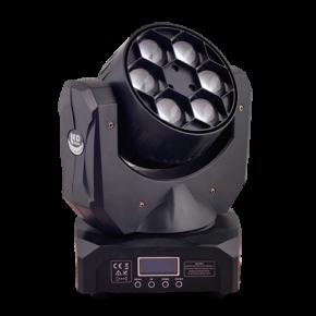 Spacelights LED Κινητή Κεφαλή Beam Wash 7x40W