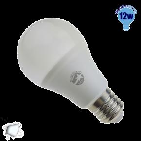 Γλόμπος LED A60 με βάση E27 GloboStar 12 Watt 230v Ψυχρό