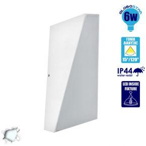 Φωτιστικό Τοίχου LED 6 Watt Up Down 20° και 100° Μοίρες Φωτισμού Ψυχρό Λευκό IP44