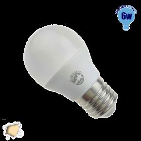 Γλομπάκι LED G45 με βάση E27 GloboStar 6 Watt 230v Θερμό