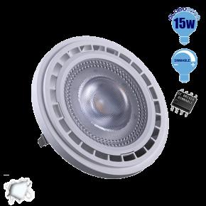 Λαμπτήρας LED AR111 Globostar 12 Μοίρες 15 Watt 230v Ψυχρό Dimmable