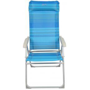 Campus Kαρέκλα Παραλίας Αλουμινίου/Μετάλλου Mε Text Γαλάζιο