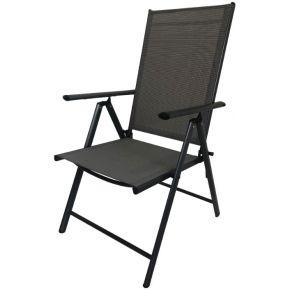 Campus Καρέκλα Μεταλλική Ανθρακί Σπαστή