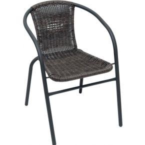 Campus Καρέκλα Μεταλλική Ανθρακί Wicker