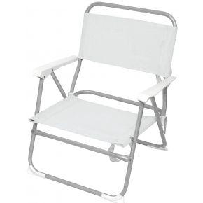 Campus Καρέκλα Παραλίας Μεταλλική Λευκή