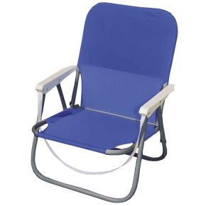 Campus Καρέκλα Παραλίας Μεταλλική Με Μπράτσα Μπλέ Φ19