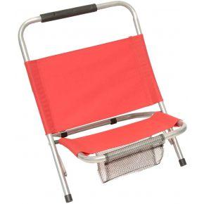 Campus Καρέκλα Παραλίας Μεταλλική Με Θήκη POLYESTER 600D Κόκκινη