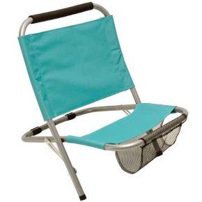 Campus Καρέκλα Παραλίας Μεταλλική Με Θήκη POLYESTER 600D Τιρκουάζ
